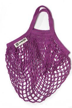 Turtle Bags String Bag for Shopping, Short Handles, Purple