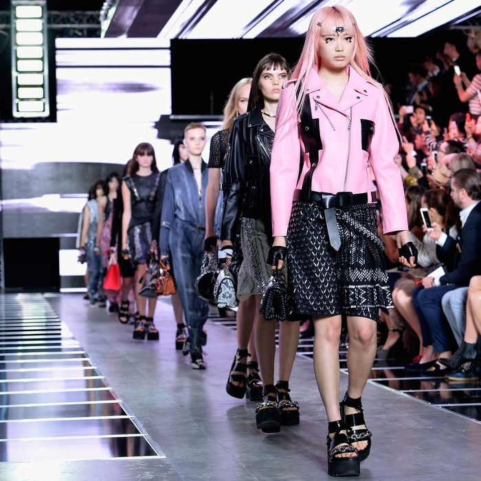 The scene at Louis Vuitton's last PFW show.