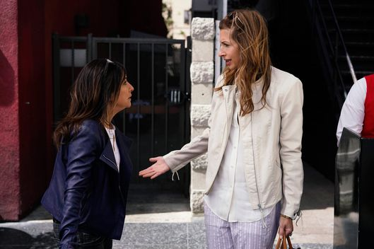 "BETTER THINGS ""Alarms"" Episode 6 (Airs Thursday, October 13, 10:00 pm/ep) -- Pictured: (l-r) Pamela Adlon as Sam Fox, Alysia Reiner as Sunny. CR: Jennifer Clasen/FX"
