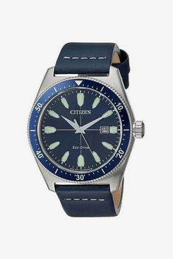 Citizen AW1591-01L Men's Brycen Blue Dial Blue Leather Strap Watch