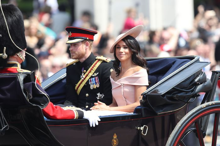 Prince Harry and Meghan Markle on the Queen Elizabeth's birthday.