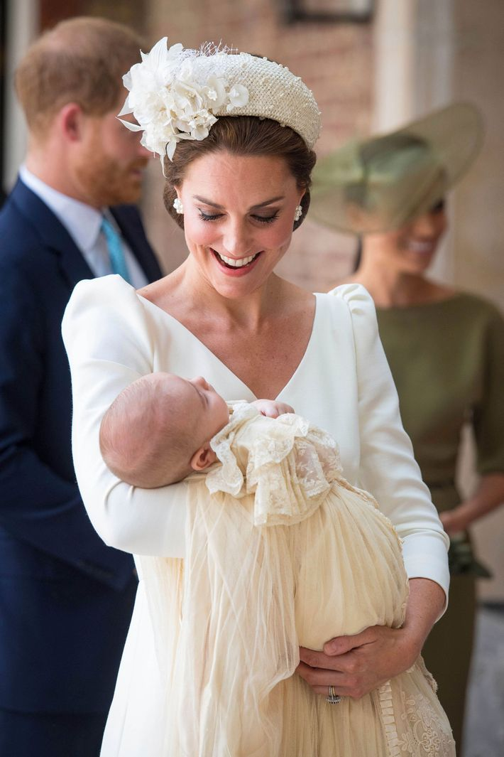 Kate Middleton and Prince Louis.