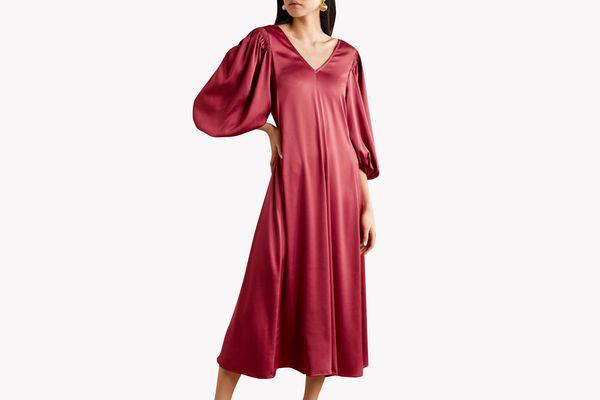 Stine Goya Marlen Belted Satin Dress