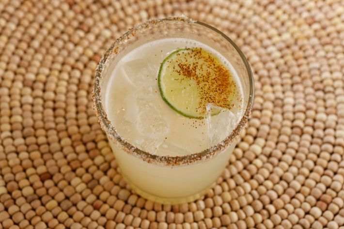 The ahumado: mezcal, lime, sugar, chipotle, and a float of Laphroiag scotch.