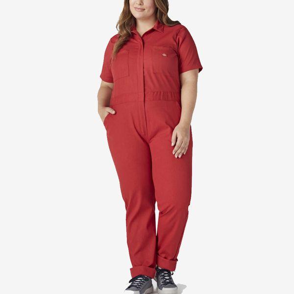 Dickies Women's Plus FLEX Temp-iQ™ Short Sleeve Coveralls, English Red
