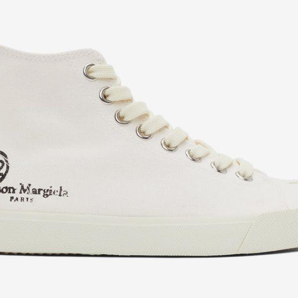 Maison Margiela White Tabi High-Top Sneakers