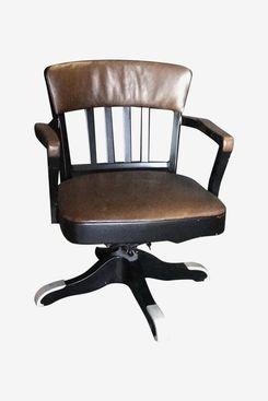 Vintage Italian 60s Iron Swivel Office Chair