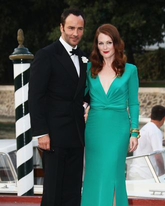 Tom Ford and muse Julianne Moore.