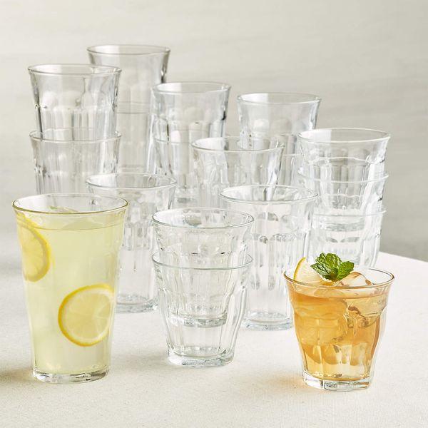 Duralex Picardie Glass Tumblers, Set of 18