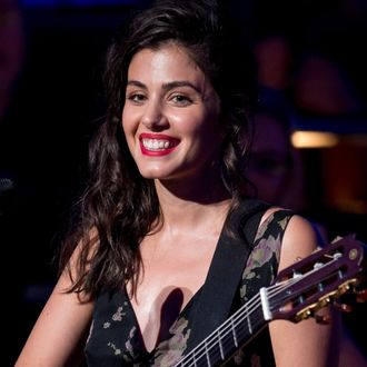 Katie Melua performs at 'A Life In Song: Lyrics By Don Black' at the Royal Festival Hall on October 3, 2013 in London, England.