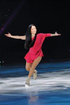 ATLANTIC CITY, NJ - DECEMBER 3: Nancy Kerrigan performs during Caesars Tribute II: A Salute to the Ladies of the Ice on December 3, 2011 at Boardwalk Hall in Atlantic City, New Jersey.  (Photo by Jesse D. Garrabrant/Getty Images)