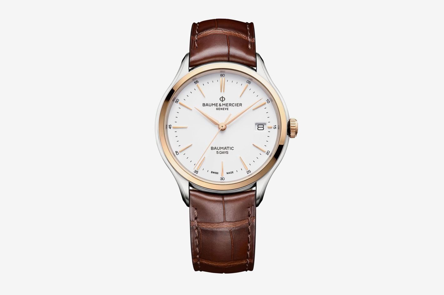 Clifton Baumatic Round 40mm Steel Watch