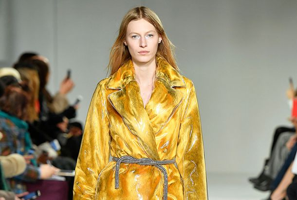 4823e81ac7 An Interactive Explainer of That Amazing Yellow Faux-Fur Calvin Klein  CoatCreative director Pieter Mulier on designing the show s most-talked-about  look.