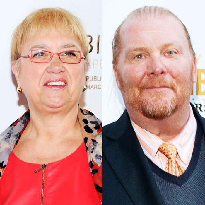 It's more about Lidia Bastianich, left, than Batali.