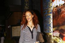 Rihanna shops for a new handbag at Sax Fifth Avenue in Beverly Hills. The R&B superstar was sporting a newly dyed hair style Beverly Hills, California - 28.07.11 Mandatory Credit: WENN.com