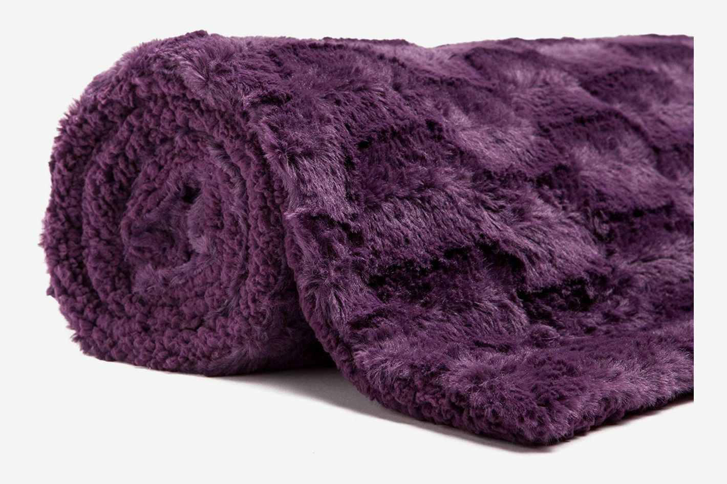315f59e392fb99 Chanasya Super Soft Fuzzy Faux Fur Elegant Rectangular Embossed Throw  Blanket