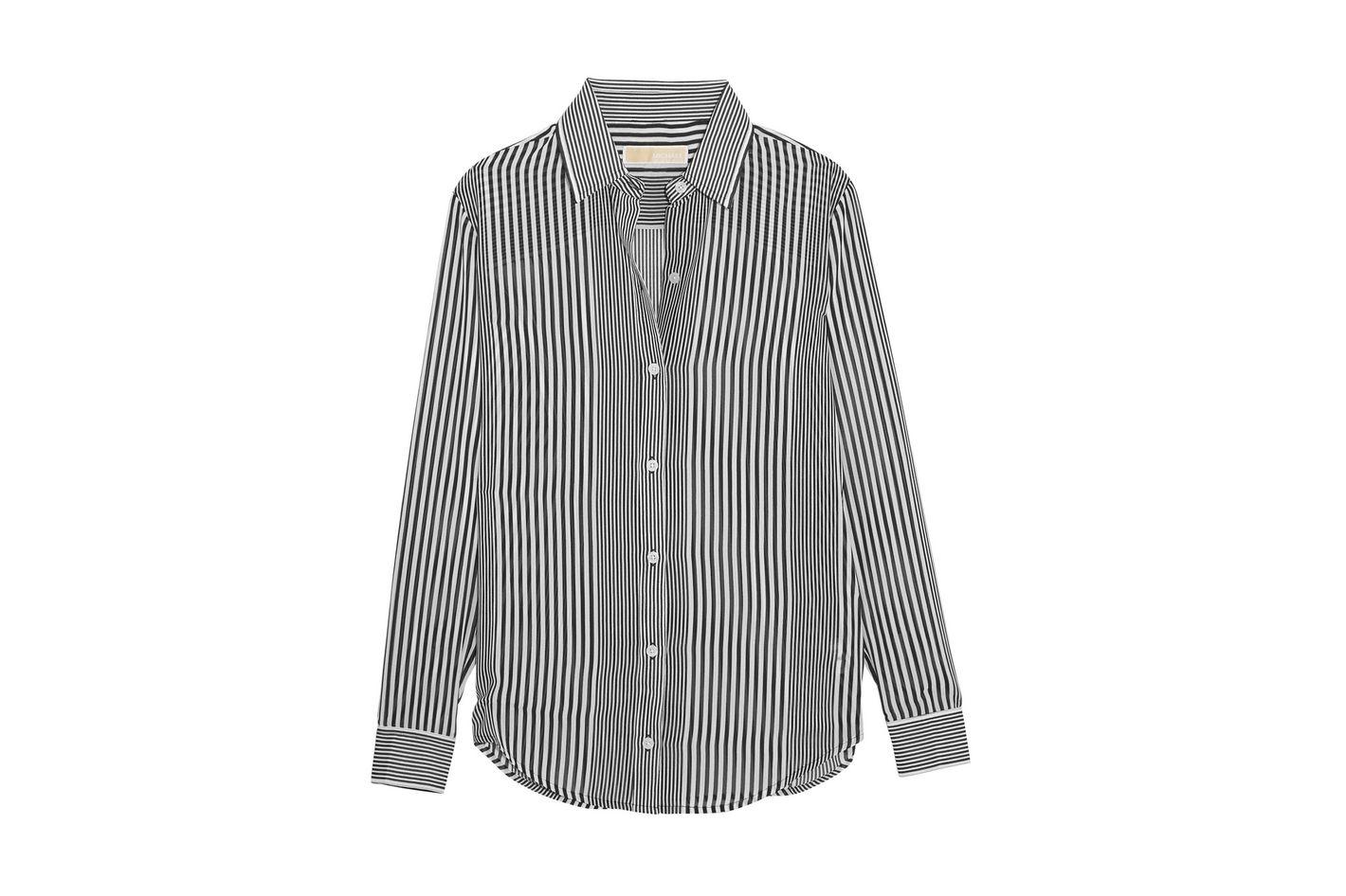 MICHAEL Michael Kors Striped Chiffon Shirt