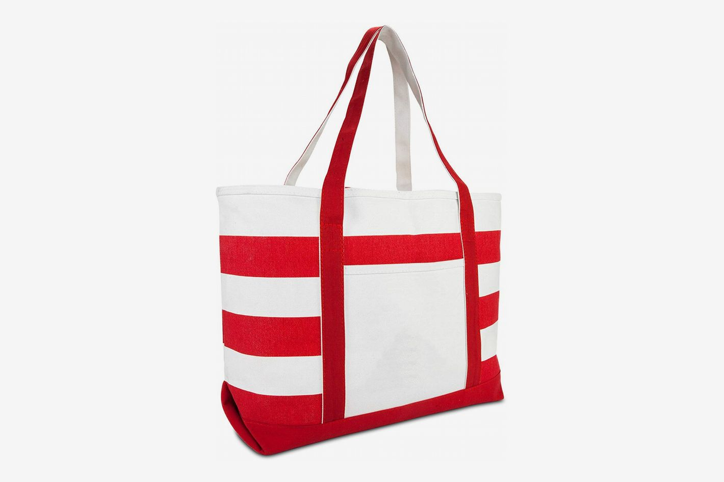 0cddf8ddd214b DALIX Striped Boat Bag Premium Cotton Canvas Tote