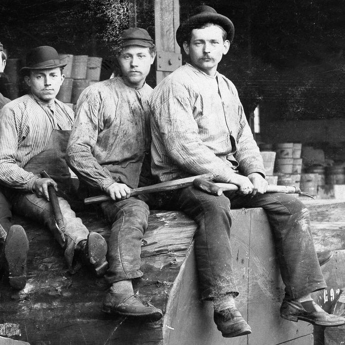 Miners in Levi's.