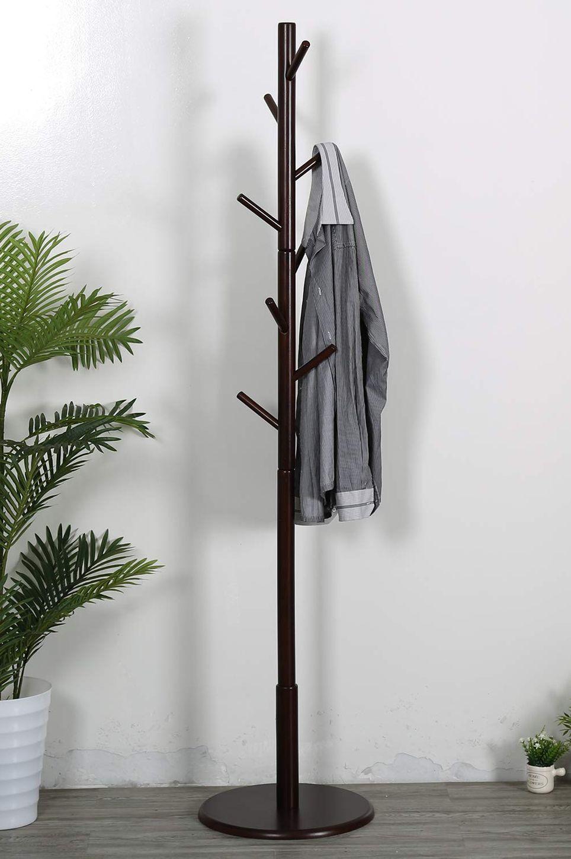 Vlush Sturdy Wooden Coat Rack Stand