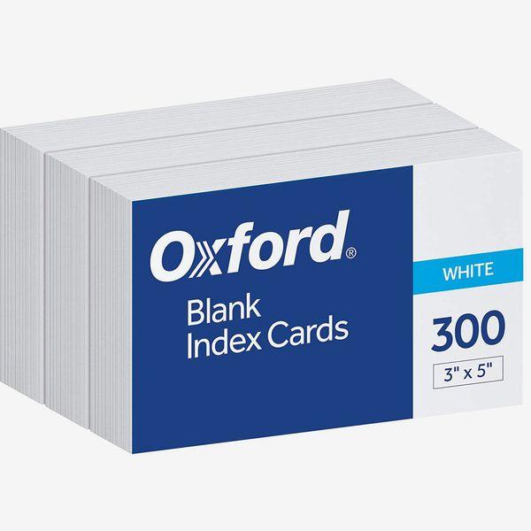 Oxford Blank Index Cards, 3x5