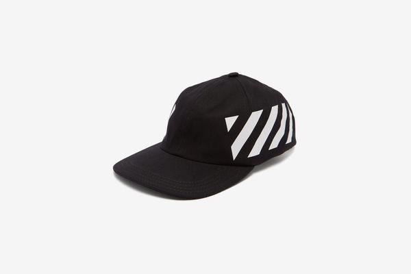 Off-White Stripe-Print Cotton Cap