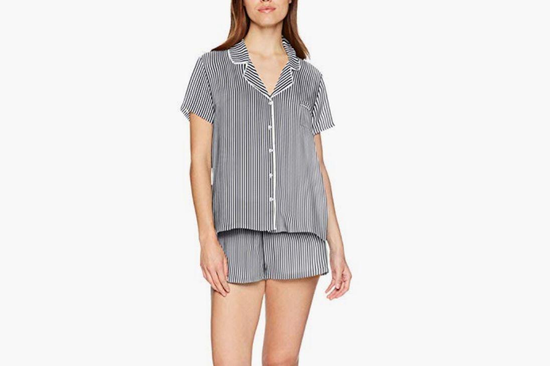 Splendid Women's Classic Rayon Short Sleeve Top and Short Pajama Set PJ