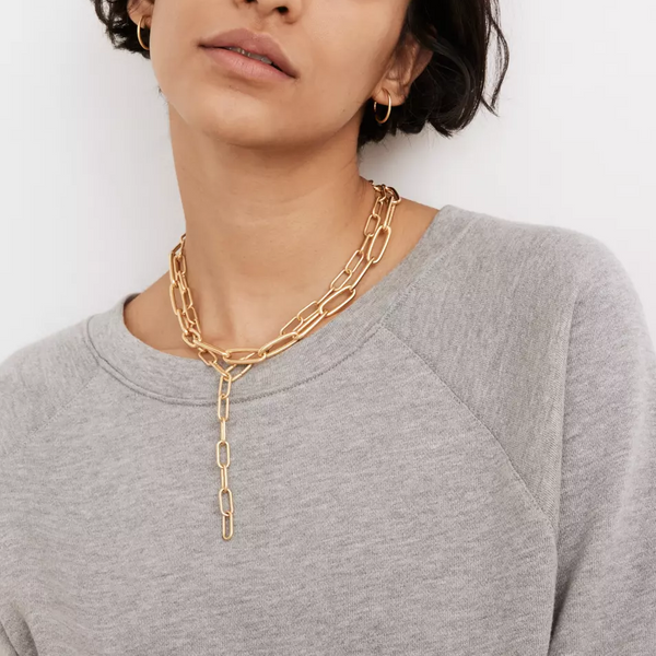 Madewell Convertible Medium Paperclip Chain Necklace