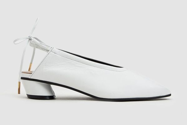 Reike Nen Ribbon Leather Slingback in White