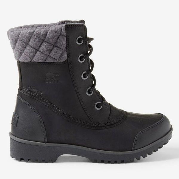 womens black sorel meribel boot - strategist rei winter sale