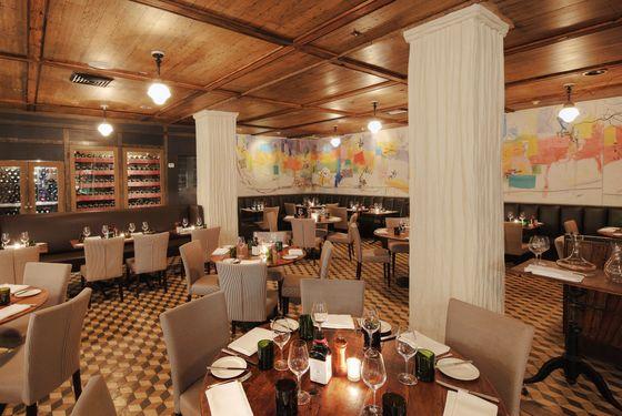 The work of architect Richard Lewis and restaurant designer David McMurray.