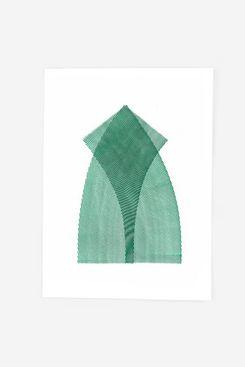 Pat Kim Moire 3 - Monoprint - Viridian Art Print