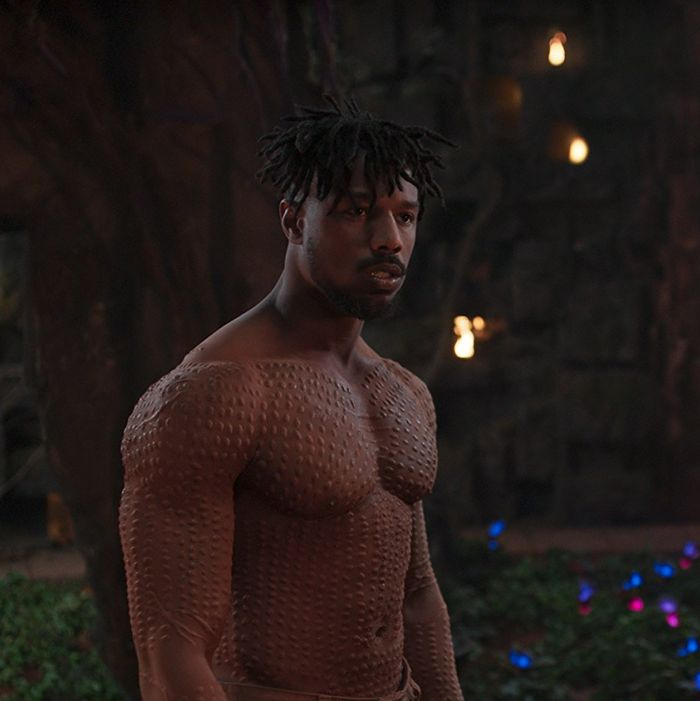 Girl Breaks Retainer From Michael B Jordan In Black Panther