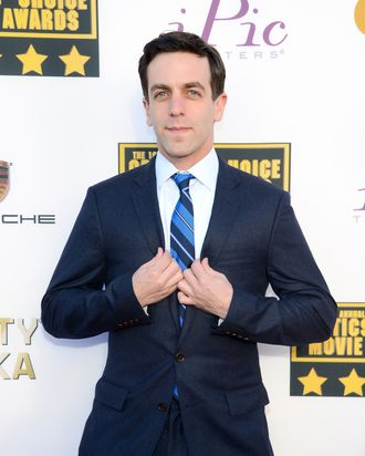 SANTA MONICA, CA - JANUARY 16: Actor/writer B.J. Novak attends the 19th Annual Critics' Choice Movie Awards at Barker Hangar on January 16, 2014 in Santa Monica, California. (Photo by Ethan Miller/Getty Images)