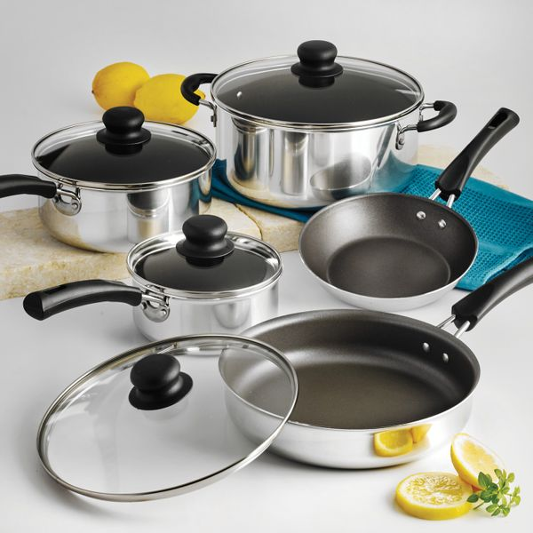 Tramontina Simple Cooking Non-Stick Cookware Set, 9 Piece