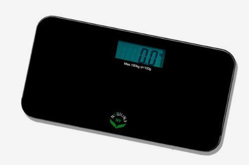 NewlineNY SBB0718M-NYBK Step-on Mini Travel Bathroom Scale