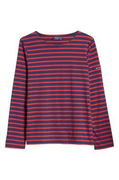 Saint James Minquiers Moderne Striped Sailor Shirt