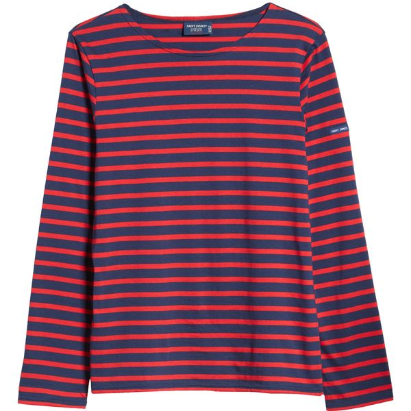 Saint James Minquiers Moderne Striped Sailor Shirt