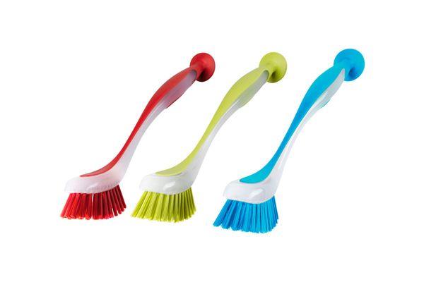 Ikea Plastis Dishwashing Brush, Assorted Colors, Set of 3