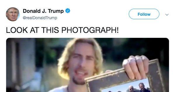 *Nickelback Voice* Look at This Meme Trump Tweeted