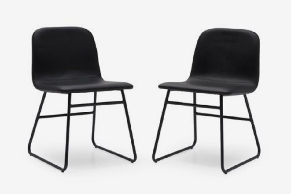 MoDRN Industrial Dax Dining Chair, Set of 2