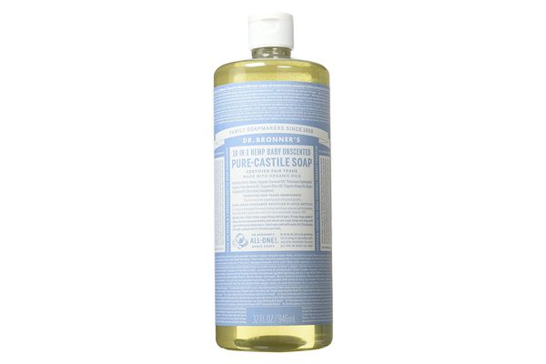 Dr. Bronner's Pure Castile All-in-One Unscented Baby Soap or Wash