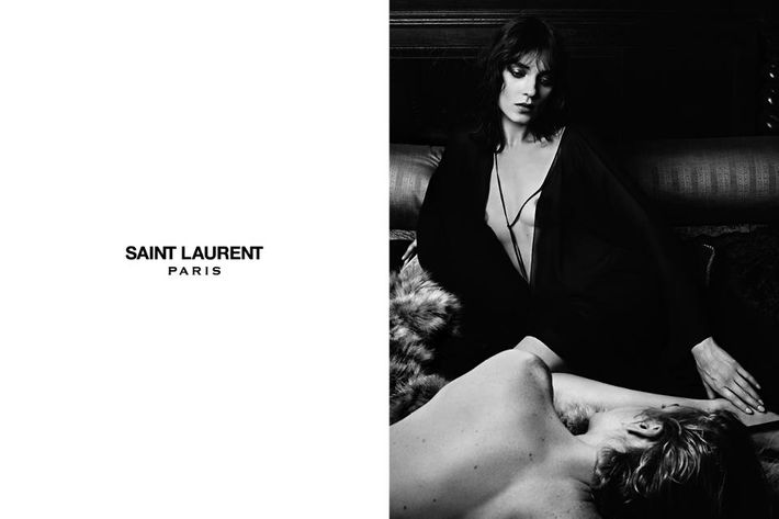 Kati Nescher and Christopher Owens in the new YSL ads.