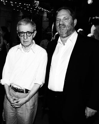 Woody Allen and Harvey Weinstein.
