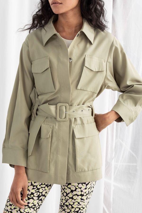Oversized Belted Workwear Jacket