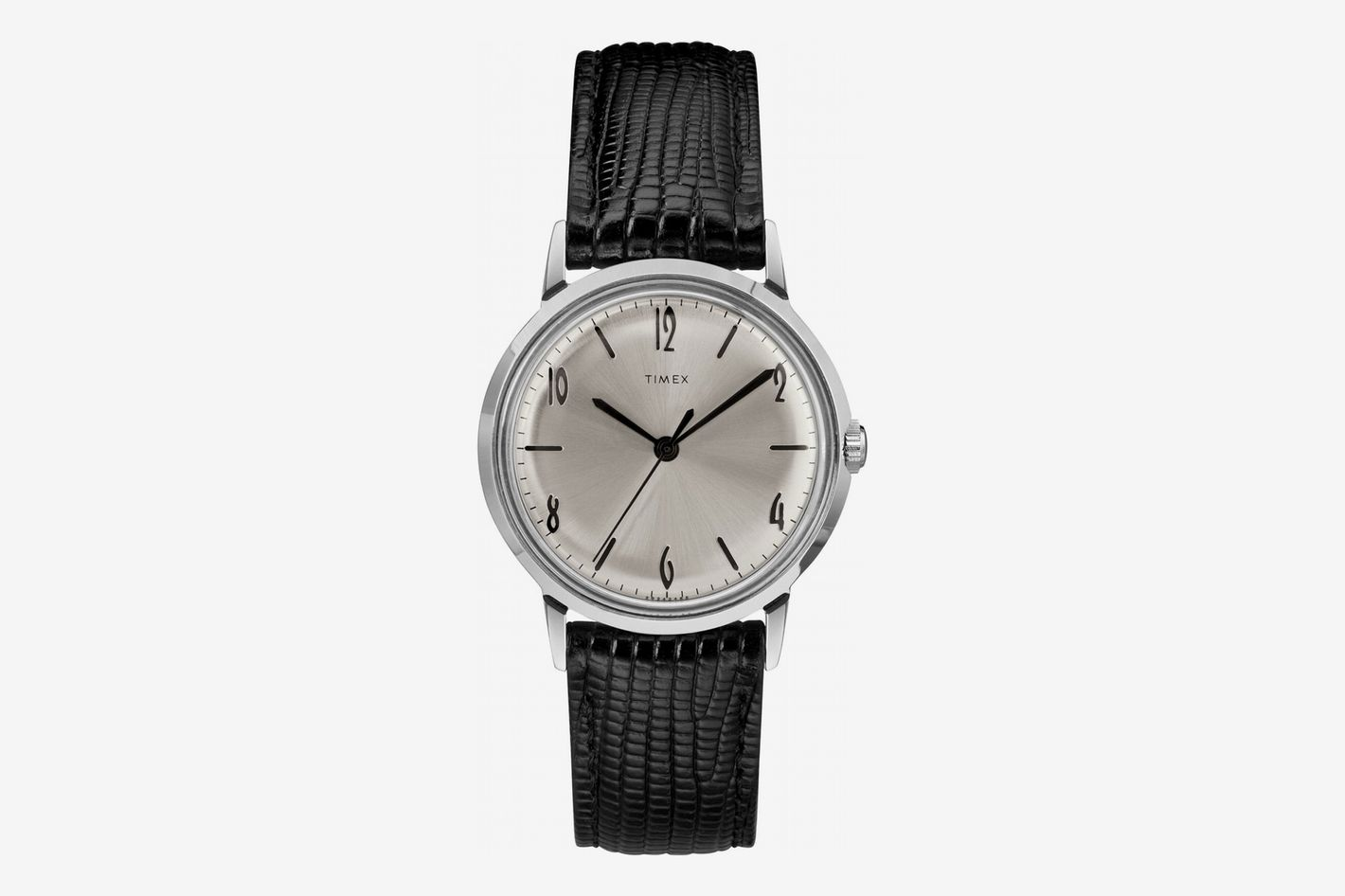 Timex Marlin Leather Strap Watch, 34mm