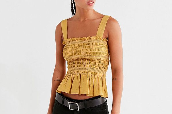 Smocked Square-Neck Cami