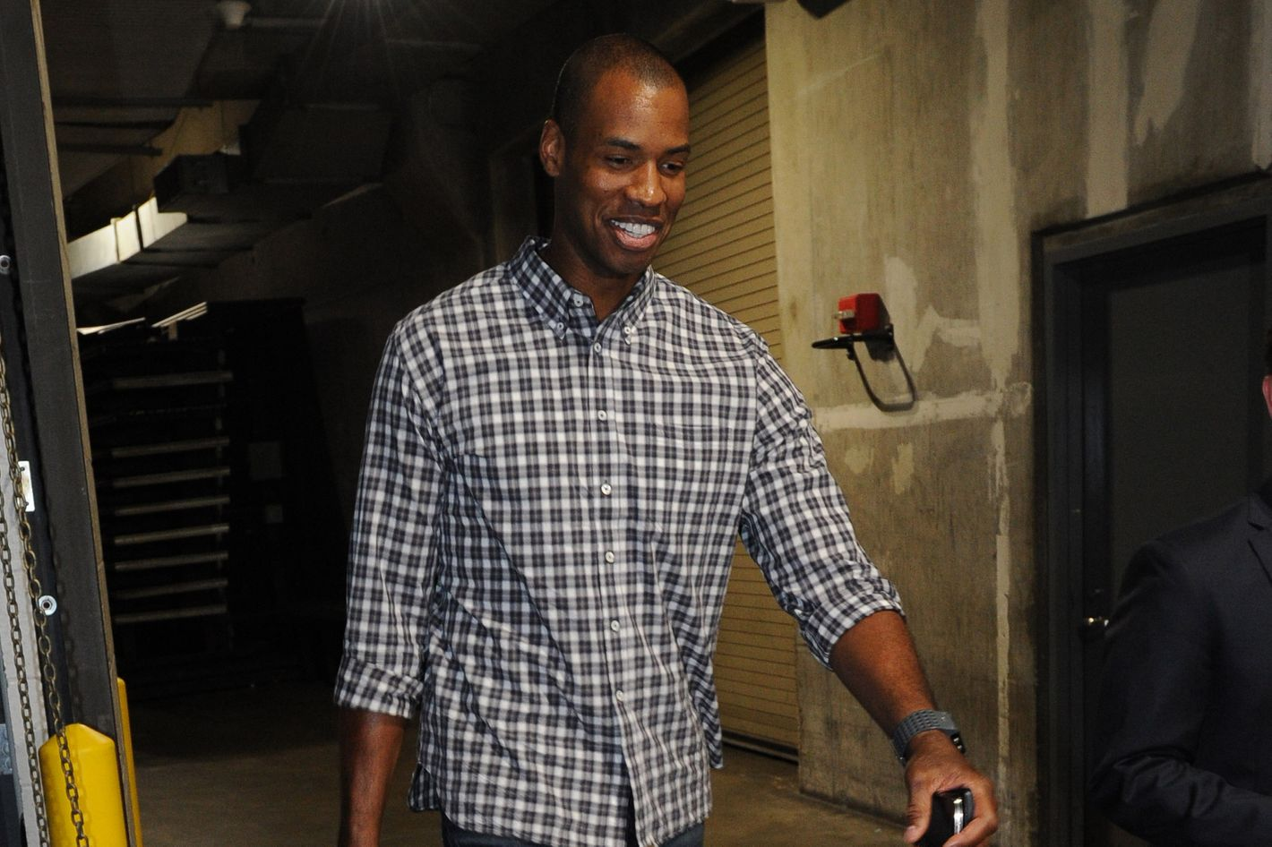 Post-game burgers for Jason Collins.