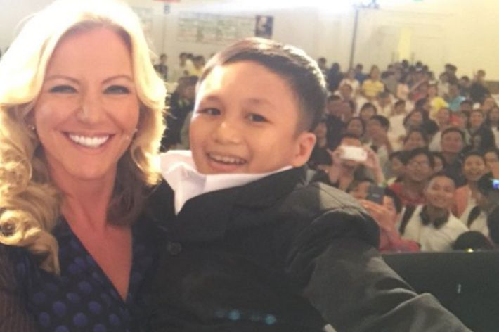 Baroness Michelle Mone and Nguyen Tan Phat.