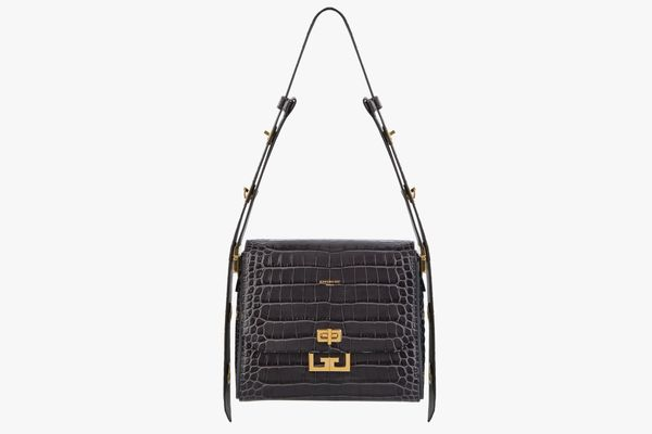 Givenchy Medium Eden Crocodile-Embossed Leather Shoulder Bag